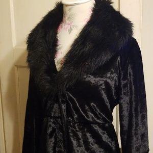 Black faux fur empress jacket